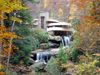 Bear Run (Pennsylvania): Fallingwater house - designed by architect Frank Lloyd Wright for the Kaufmann family / casa da cascata - photo by G.Frysinger