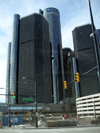Detroit (Michigan): General Motors' world headquarters in the Ren Cen (Renaissance Center) - photo by A.Kilroy