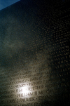 Washington D.C., USA: Vietnam memorial wall - sun reflection - photo by G.Friedman