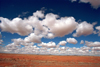 USA - Navajo Nation (Arizona): blue sky and puffy clouds - Photo by G.Friedman
