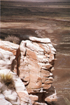 USA - Cocoa Mountains - Petrified Forest National Park (Arizona): rocky cliff - Photo by G.Friedman
