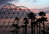 Long Beach (California): sunset at the roller coaster - The Pike - Los Angeles County - Photo by G.Friedman