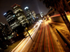 Los Angeles (California): downtown LA Freeway at night - Photo by G.Friedman
