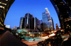 Los Angeles (California): Bonaventure Hotel - downtown LA - fisheye - Photo by G.Friedman