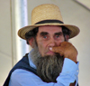 Bonduel (Wisconsin): Amish man - a distinguished beard - Amish Quilt Auction - Mennonites (photo by G.Frysinger)