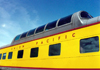 Green Bay (Wisconsin): Union Pacific panoramic car - train - photo by G.Frysinger