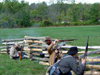 Old Wade House State Park (Wisconsin): Confederate Forces - Civil War battle reenactment - photo by G.Frysinger
