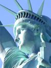 USA - New York: Statue of Liberty - profile - by French Freemason sculptor Frederic Auguste Bartholdi - photo by M.Bergsma