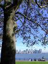 New York: Manhattan seen from Liberty Island (photo by M.Bergsma)
