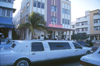 Miami (Florida): stretched limo at Majestic - South Beach - photo by Mona Sturges