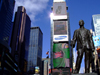 Manhattan (New York City): Times Square - statue of entertainer George M. Cohan - photo by M.Bergsma
