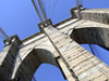 New York City: Brooklyn Bridge - pillar detail - photo by M.Bergsma