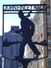 Manhattan (New York City): John Finley Walk sign - silhouette - photo by M.Bergsma