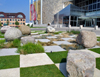 USA - Indianapolis (Indiana): Indiana State Museum - checkerboard landscape - photo by G.Frysinger