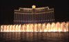 USA - Las Vegas (Nevada): Bellagio Hotel Fountains at ground level at night (photo by B.Cain)
