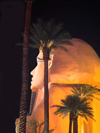 USA - Las Vegas (Nevada):  Luxor Hotel sphinx at night (photo by B.Cain)