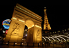 USA - Las Vegas (Nevada): Paris Hotel arch at night (photo by B.Cain)