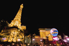 USA - Las Vegas (Nevada): Paris Hotel at night (photo by B.Cain)