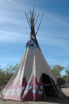 USA - Tombstone, Arizona - O.K. Corral film set - Old Tucson - American Indian teepee tent - tipi - tepee - Cochise County - Photo by K.Osborn