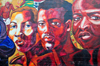 Kansas City, KS, USA: African American mural - African faces - 'Dawing of a New Day'- 1207 7th street North- photo by M.Torres