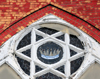 Kansas City, KS, USA: star of David - window at the Ebenezer Church of God in Christ - 7th street - photo by M.Torres