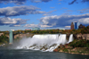 Niagara Falls, New York, USA: American Falls and Prospect Point Park observation tower - Niagara River - photo by M.Torres