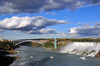Niagara Falls, New York, USA: American Falls and Rainbow Bridge - Niagara river - photo by M.Torres