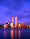 USA - Manhattan (New York): dusk - south of the island, still with the WTC twin towers - photo by A.Bartel