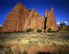 USA - Arches National Park (Utah): rock formations - stone walls - near Moab - photo by J.Fekete