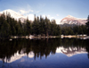 USA - Yosemite National Park (California): Mt.Dana and Mt.Gibbs - lake reflection - photo by J.Fekete