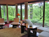USA - Quasqueton - Buchanan County (Iowa): Cedar Rock house - designed by architect Frank Lloyd Wright for Lowell Walter - interior decoration - furniture - photo by G.Frysinger
