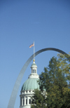St. Louis, Missouri, USA: Arch and dome of the Old Court House - photo by D.Forman