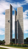 International Peace Garden, North Dakota, USA: the towers - photo by G.Frysinger