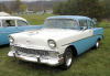 USA - Mathias (West Virginia): the glorious 50's - 1956 Chevrolet 210 Delray 2 Door Sedan - Chevy - classic car - photo by G.Frysinger