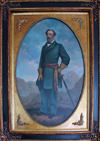 Abingdon (Viginia): portrait of General Robert E. Lee - the most celebrated general of the Confederate forces - Martha Washington Inn - photo by G.Frysinger