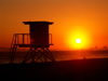 Huntington Beach - Orange County (California): lifeguard booth - Photo by G.Friedman