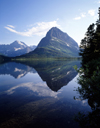 USA - Glacier NP (Montana): Swiftcurrent Lake - reflection of surrounding mountain range - photo by J.Fekete