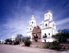 USA - Tucson (Arizona): Mission San Xavier - white washed church - photo by J.Fekete