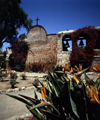 Mission San Juan Capistrano - Orange County (California): mission with garden and bells - Est.1775 - photo by J.Fekete