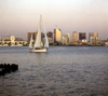 San Diego (California): sail boat on San Diego bay - photo by J.Fekete