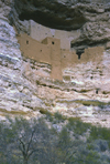 USA - Montezuma Castle National Monument - Camp Verde (Arizona): cliff dwelling nestled into a limestone recess high above Beaver Creek - built by Sinagua Indians - photo by A.Bartel