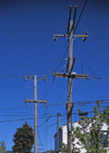 USA - Oakland (California): Telephone and Electricity Cables - Alameda County - photo by A.Bartel