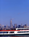 USA - Manhattan (New York): skyline and passing ferry - photo by A.Bartel