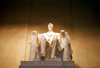 Washington D.C.: Lincoln memorial - the president's statue - sculptor Daniel Chester French - photo by G.Friedman