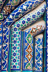 Mosaic tiles, Uleg Beg Madrassah, Bukhara, Uzbekistan - photo by A.Beaton