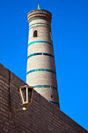 Minaret of Friday Mosque, Khiva, Izbekistan - photo by A.Beaton