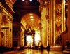 Vatican: St.Peter's Basilica - nave and Baldacchino - photo by J.Fekete
