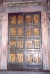 Holy See - Vatican - Rome - St Peter's Basilica: Bronze gate (photo by Miguel Torres)