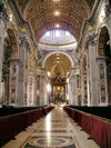 Holy See - Vatican - Rome - St Peter's Basilica: inside - Bernini's Baldacchino (photo by R.Wallace)