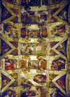 Vatican: ceiling of the Sistine Chapel - frescoes painted by Michelangelo - Apostolic Palace - photo by J.Fekete